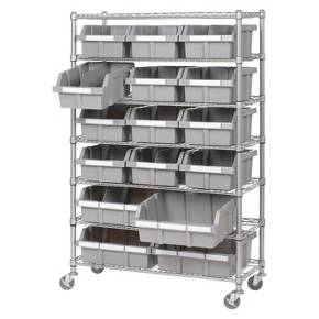 Super storage solution for arts and crafts, office supplies, or utility items. Sturdy and mobile.
